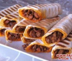 Tortillavellen gevuld met shoarma