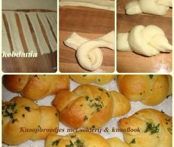 Knoopbroodjes met peterselie en knoflook