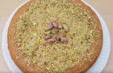 Een snelle pistache walnoten cake zonder olie of boter